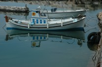 Boat Reflection Paros