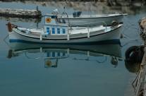 Boat Reflection Paros