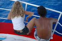 Couple On Ferry to Lindos